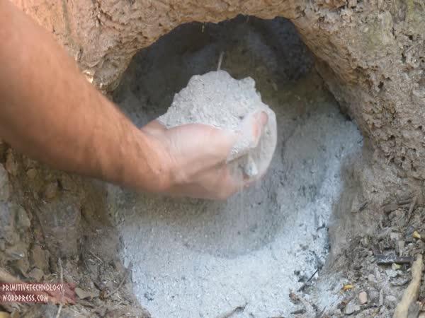 Jak vyrobit cement z dřevěného popelu