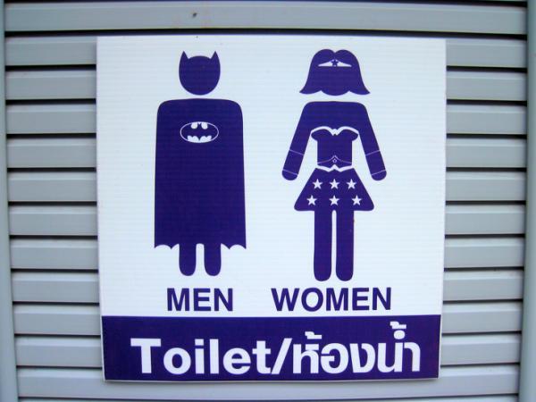 GALERIE - Geniální cedule na záchody!
