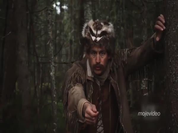 Zálesák loví veverku