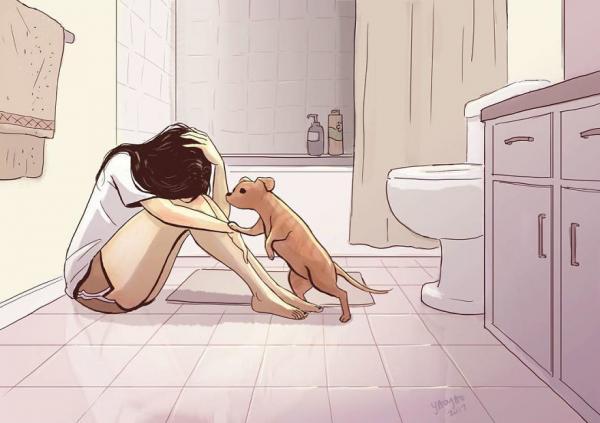GALERIE - Ilustrace života se psem #1