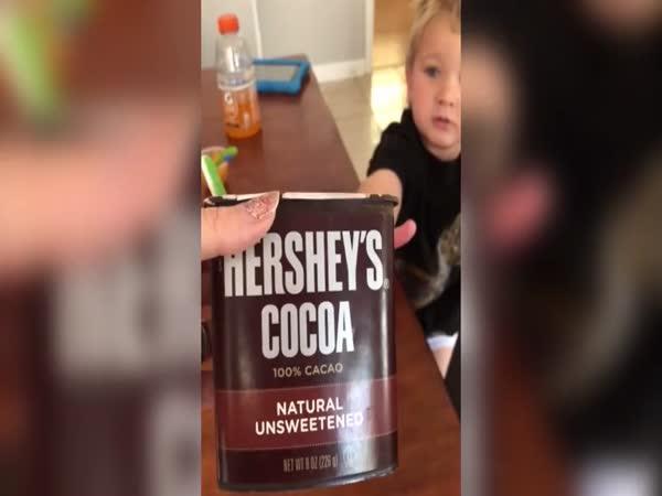 Mami, chci ochutnat kakao!