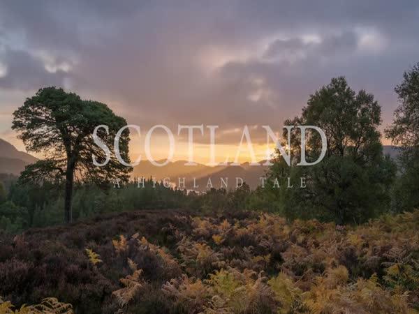 Časosběrné video ze skotské vysočiny