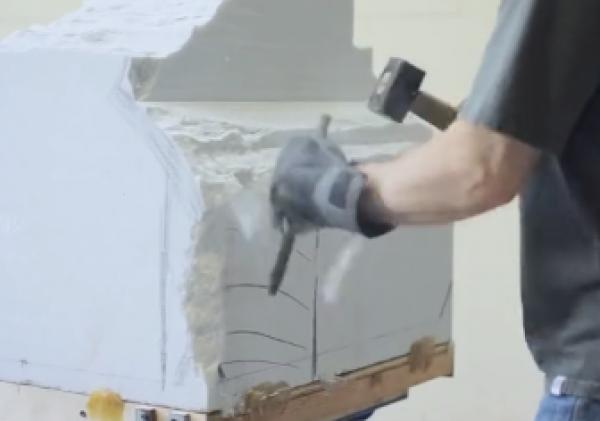 Unikátní tvorba sochy z mramoru