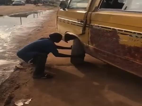 Oprava kola za jízdy