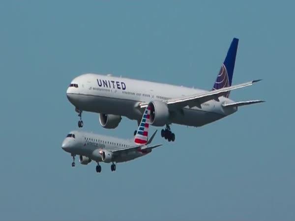 Přistání dvou letadel naráz