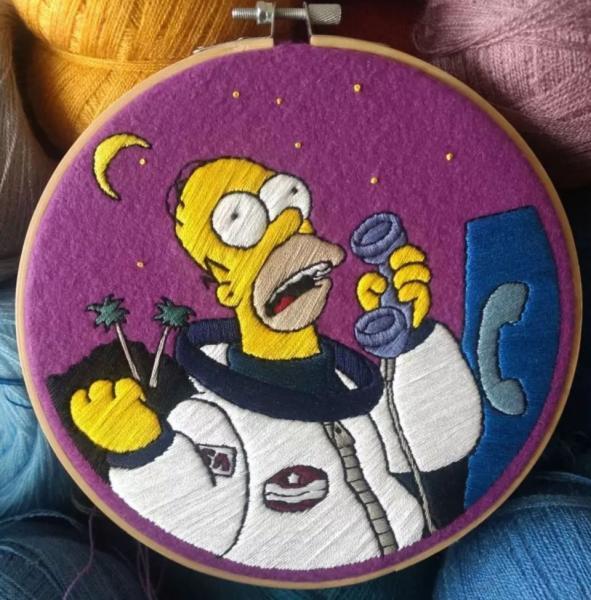 GALERIE - Vyšívaní Simpsonovi jsou skvělí