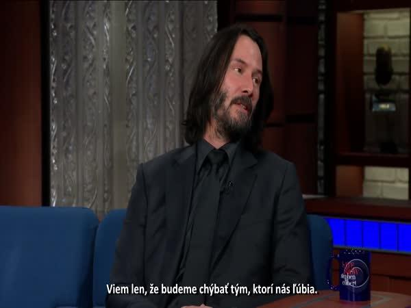 Keanu Reeves - Co se stane, až zemřeme?
