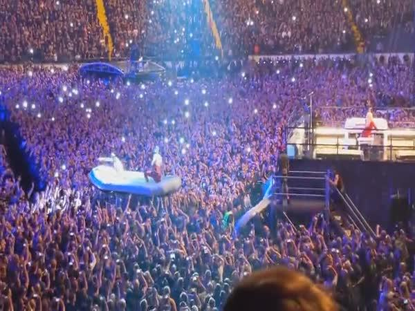 Začátek koncertu Rammstein
