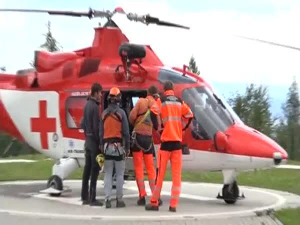 Profesionalita horských a leteckých záchranářů
