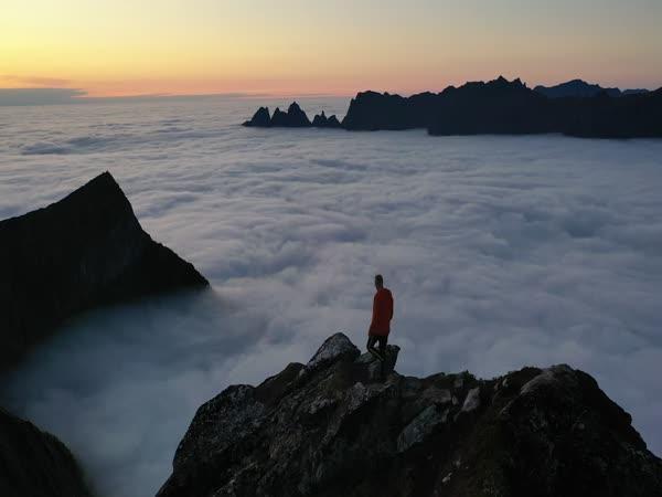 Fantastický výhled na norském ostrově
