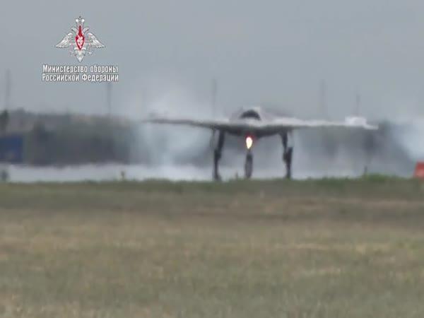 Ruský bojový dron Suchoj