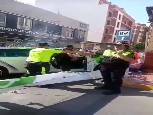 Nehoda - Vůz na Tour de Spain