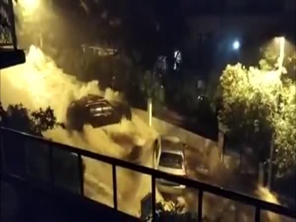 Záplavy v chorvatské Makarské
