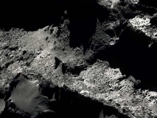Pohled z družic na kometu