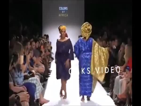 Africká módní přehlídka!