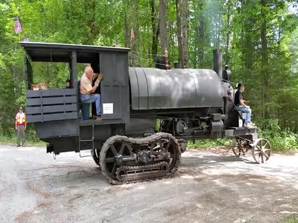 Když se dřevo těžilo parním strojem