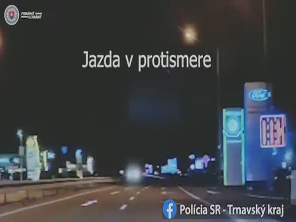 Opilý jezdil v protisměru