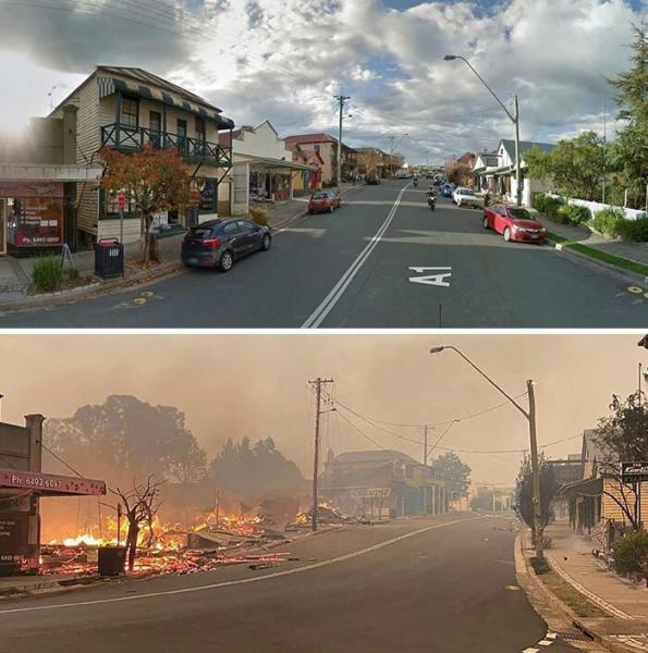 GALERIE - Austrálie PŘED a PO požárech