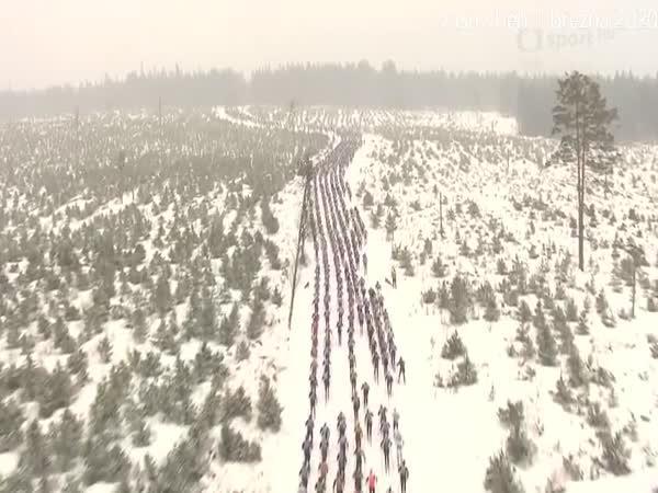 Extrémní závod na běžkách ve Švédsku