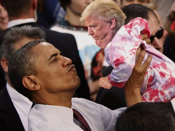 GALERIE – Trump jako malé dítě