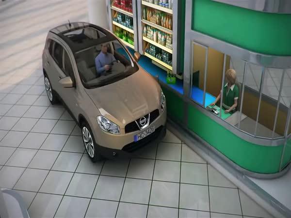 První drive through nákupní centrum na světě