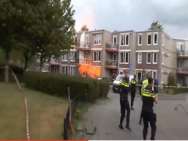 Výbuch plynu v bytě