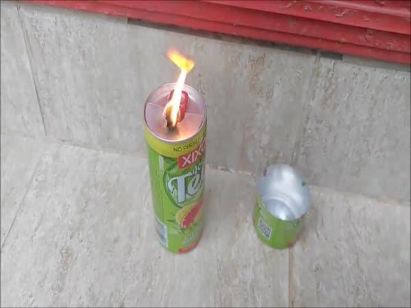 Svíčka z použitého motorového oleje