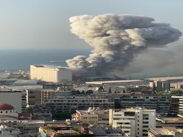 Ohromná exploze v Bejrútu