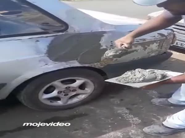 Netradiční oprava auta