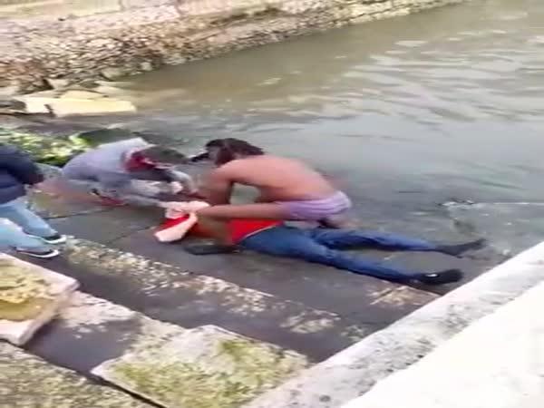 Zachránil tonoucího z vody