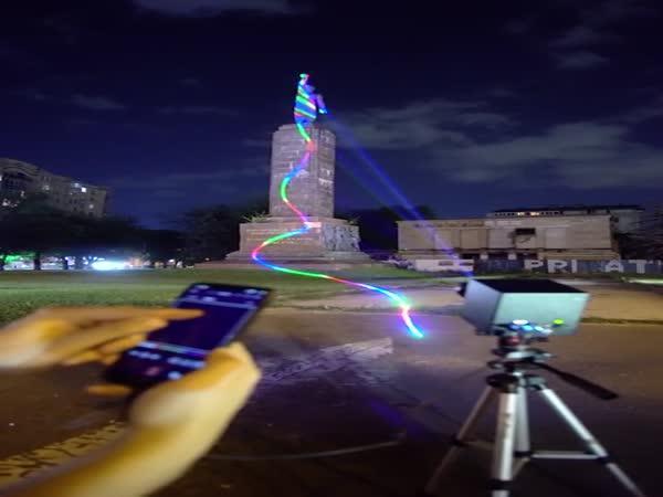Umění pomocí laserového promítání