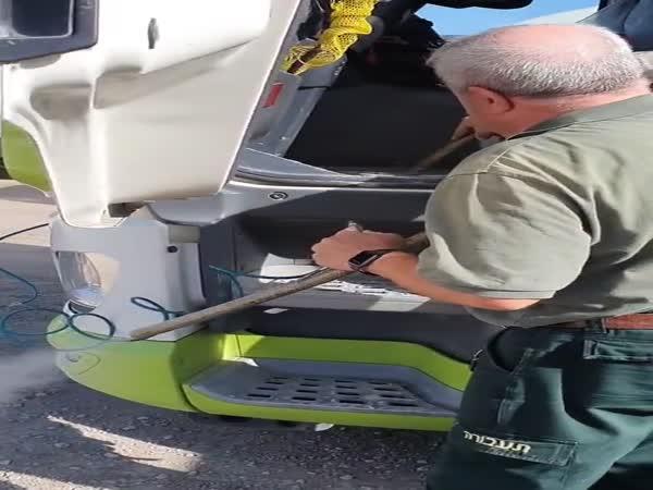 Kamionista si vytvořil vysavač