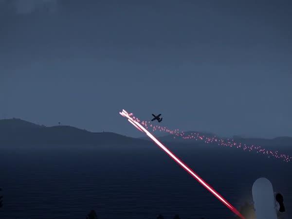 Simulátor sestřelení stíhačky
