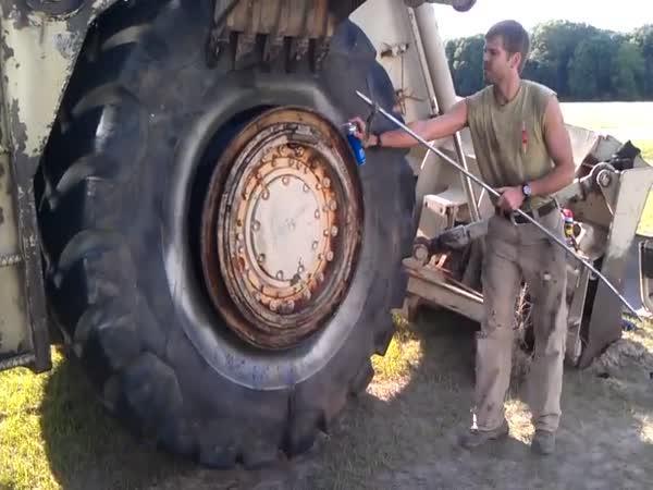 Jak obout tunovou pneumatiku pomocí WDčka