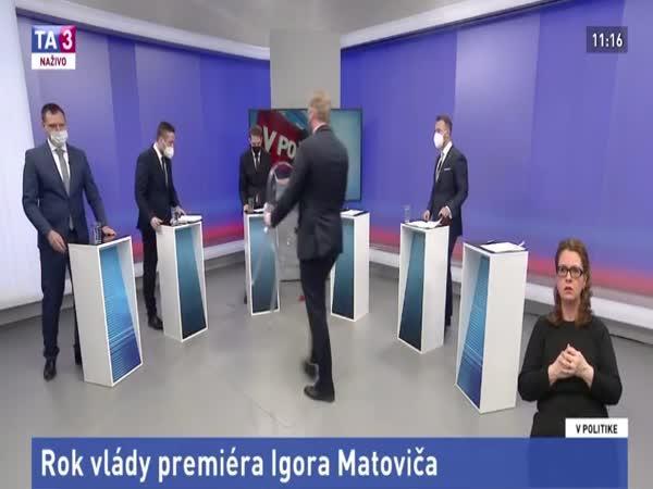 Slovensko – Moderátor zkolaboval v živém přenose