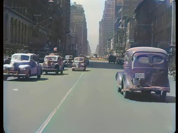 Barevný New York z roku 1945